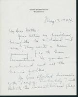 Letter to Mrs. C.G. (Ann) Austin, May  17, 1934