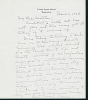 Letter to Mrs. C.G. (Ann) Austin, March 2, 1938