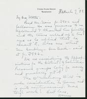 Letter to Mrs. C.G. (Ann) Austin, March 7, 1938