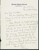 Letter to Mrs. C.G. (Ann) Austin, January 23, 1940