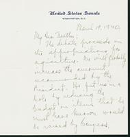 Letter to Mrs. C.G. (Ann) Austin, March 19, 1940