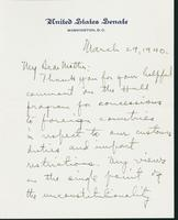 Letter to Mrs. C.G. (Ann) Austin, March 29, 1940