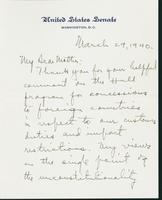 Letter to Mrs. C.G. (Ann) Austin, March 29, 1940