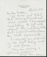 Letter to Mrs. C.G. (Ann) Austin, April 4, 1940