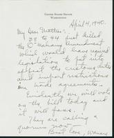 Letter to Mrs. C.G. (Ann) Austin, April 4, 1940
