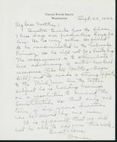 Warren R. Austin letter to Mrs. C.G. (Ann) Austin, September 24, 1940