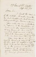 Letter from AUSTIN JACOBS COOLIDGE to GEORGE P. MARSH, dated                             April 28, 1858.