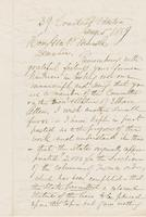 Letter from AUSTIN JACOBS COOLIDGE to GEORGE PERKINS MARSH,                             dated January 5, 1859.