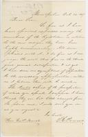 Letter from THOMAS E. POWERS to GEORGE PERKINS MARSH, dated                             October 20, 1857.