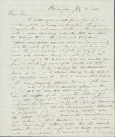 Letter from WILLIAM WESTON to GEORGE PERKINS MARSH, dated July                             25, 1848.