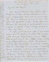 Letter from SPENCER FULLERTON BAIRD to GEORGE PERKINS MARSH,                             dated October 3, 1851.