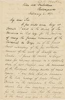 Letter from CHARLES ELIOT NORTON to GEORGE PERKINS MARSH, dated                             February 2, 1871.