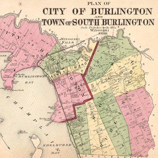 Burlington Vt Map Historical Maps of Burlington and Winooski, Vermont | THE